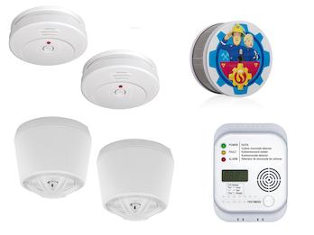 2-Raum-Wohnung Alarm-Set (Rauch, Hitze, Kohlenmonoxid), Sicherheit für Zuhause
