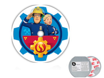 VdS Rauchmelder mit Magnet, 10 Jahres Batterie, Feuerwehrmann Sam & Penny