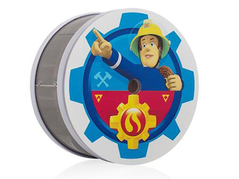 Mini Rauchmelder mit VdS, 10 Jahres Batterie, Feuerwehrmann Sam für Kinderzimmer