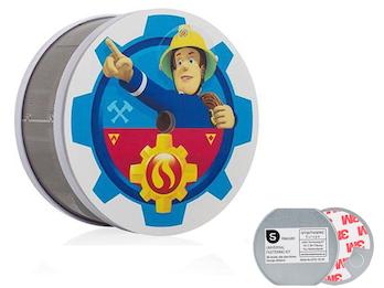 VdS Rauchmelder mit Magnet, 10 Jahres Batterie, Feuerwehrmann Sam Kinderzimmer