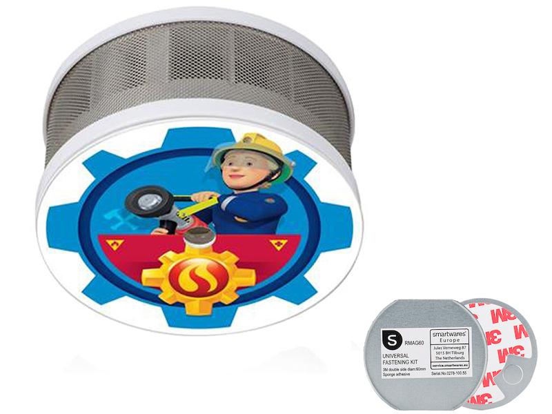 Smartwares Mini Rauchmelderset Feuerwehrmann Sam Fsmset16404