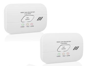 Kohlenmonoxidmelder 2er Set mit 3 Jahres Batterie, CO2 Warner nach EN 50291