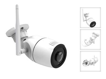 Outdoor IP Kamera 180°, Nachtsicht bis 15m, HD-Auflösung, Steuerung per App