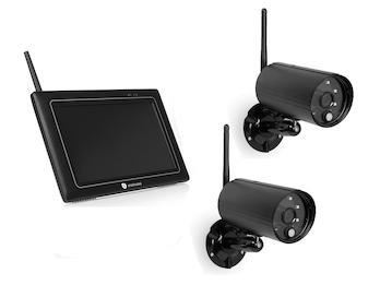 Kabelloses Außenkameraset mit Monitor, Bewegungsmelder, Nachtsicht, Appsteuerung