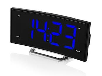 Radiowecker mit USB-Anschluss, Uhrenradio mit 2 Weckzeiten & Schlummerfunktion