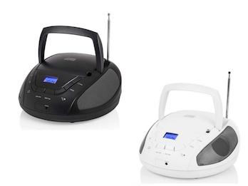 Tragbares Radio mit CD-Player & FM PLL Tuner, 2x1 Watt Lautsprecher