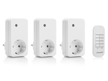 Funk Steckdosenset mit Fernbedienung für Leuchten und Geräte bis 1000W