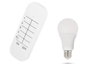 Dimmbares E27 LED Leuchtmittel Glühbirne 9 Watt mit passender Fernbedienung