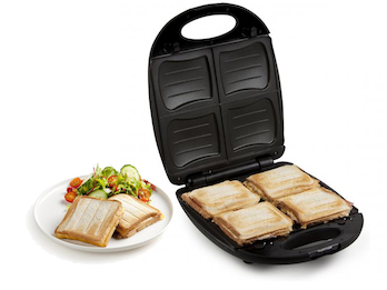 Sandwichmaker für 4 Amerikan Sandwich Toasts - mit abnehmbaren Platten 1200 Watt