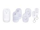 Mini Alarmsystem mit 7 Komponenten, drahtlose Installation, mit Fernbedienung