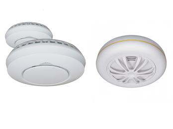 Alarmset: 2x Funkrauchmelder + Hitzemelder für Smart Home Connects System
