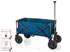 Faltbarer Klappbollerwagen Blau mit Luftreifen für Kinder Bollerwagen klappbar