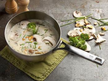 Innovative Edelstahl Sautierpfanne -Healthy & tasty- Ø20 cm - Induktion geeignet