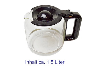 Glaskanne, Ersatzkanne, Kaffeekanne, Kaffeemaschinen DO477KT und DO478KT