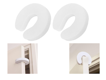 2x Türstopper, verhindert das Einklemmen oder gegen zufallende Fenster
