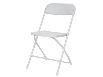 Robuster Klappstuhl weiß, faltbarer Stuhl, Campingstuhl, Terrassenmöbel
