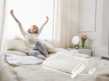 Elektrische Unterdecke aus Fleece, Heizdecke 150x80cm für 1 Person, 2 Heizstufen