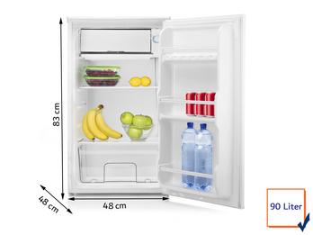 Kühlschrank 90 Liter mit 10 Liter Gefrierfach EEK A+ Camping geeignet