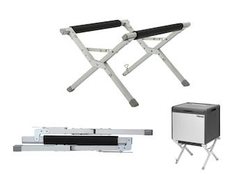 Kühlboxständer, höhenverstellbarer Fuß mit Transporttasche, 50x45x33 cm