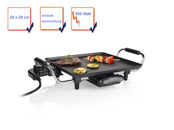 Grillplatte Tischgrill Teppanyaki Grill antihaftbeschichtet 800 Watt