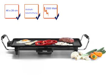 Grillplatte Tischgrill Teppanyaki Grill antihaftbeschichtet 2000 Watt