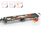 XXL Teppanyaki Grillplatte 90cm Japanischer Elektro Tischgrill Indoor Tepan Yaki