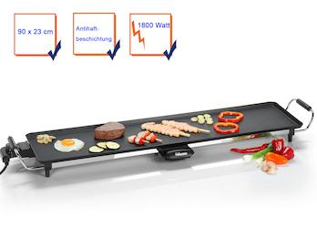 Teppanyaki XXL Grillplatte 90x23cm Japanischer Elektro Tischgrill Indoor Tepan