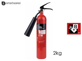 Handlicher CO2-Feuerlöscher 2kg, Brandklasse B - rückstandslos Löschen