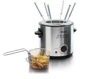 Fondue / Fritteuse, 900 Watt, 1,0L Fassungsvermögen, Thermostat