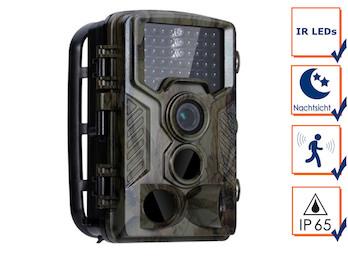 Wildkamera Überwachungskamera mit IR Nachtsicht & Full HD, Jagdkamera