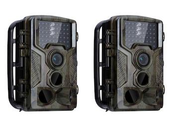 Wildkamera Überwachungskameraset mit IR Nachtsicht & Full HD, Jagdkameras