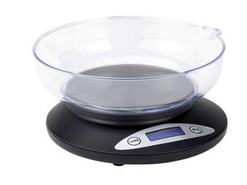 Küchenwaage 2 kg, Tara-Funktion, Digitaldisplay, Meßbecher, 1g-Schritte