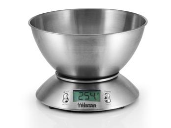 Edelstahl-Küchenwaage, maximal 5 kg, Tara-Funktion, Timer, Temperatur-Anzeige