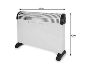 2000W Elektroheizung / 3 Stufen Konvektor mit Thermostat & Überhitzungsschutz