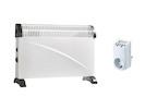 2000W Elektroheizung / 3 Stufen Konvektor mit Thermostat & Zeitschaltuhr