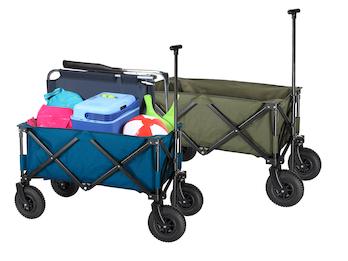 Faltbarer Klappbollerwagen mit Luftreifen - zusammenklappbarer Handwagen