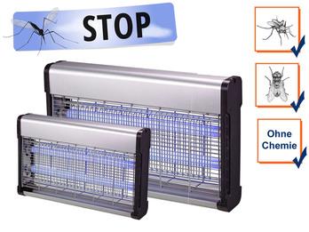 Profi Insektenvernichter mit 2 UV-Lampen, Wirkungskreis 30-150m²