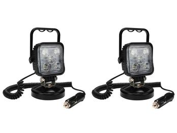 LED Scheinwerferset: Arbeitsleuchten mit Magnet, Werkstattlampen 15 Watt