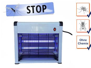 Praktischer Insektenvernichter mit 2x 8 Watt UV-Lampen, Mückenfalle