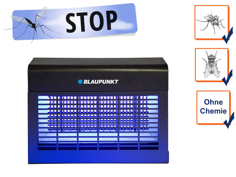 LED Insektenvernichter mit UV-A LED-Leiste, Wirkungskreis bis 150 m²
