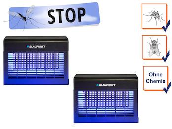 2er Set LED Insektenvernichter mit UV-A LED-Leiste, Wirkungskreis bis 150 m²