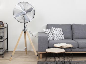 Standventilator mit Holzstativ, Schwenkfunktion & einstellbare Höhe Ø 45 cm