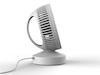 Wiederaufladbarer USB Mini Tischventilator Weiß / Schwarz 2 Stufen 5W