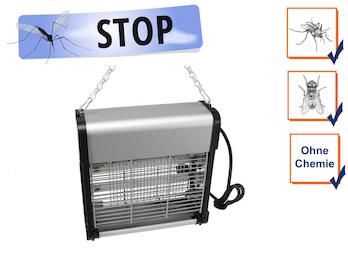 Insektenvernichter Stechmückenfalle 2x 6W UV Licht, Bereich 30m²