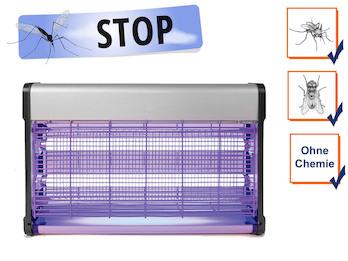 Insektenvernichter Stechmückenfalle 2x 15W UV Licht, Bereich 100m²