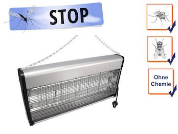 Insektenvernichter Stechmückenfalle 2x 20W UV Licht, Bereich 150m²