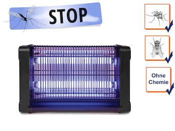 Insektenvernichter 360°, Stechmückenfalle 2x 10W UV Licht, Bereich 80m²