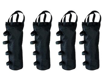 Sandsack 4er SET für Pavillion Befestigung Klettverschluss max 15kg DxH: 15x50cm