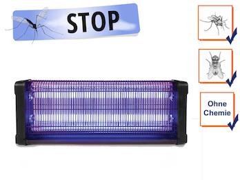 Insektenvernichter 360°, Stechmückenfalle 2x 20W UV Licht, Bereich 150m²