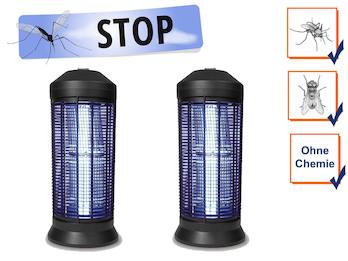 2er Set Profi Insektenvernichter Stechmückenfallen mit UV Licht für je 600m²